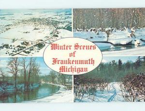 Unused Pre-1980 FOUR VIEWS ON CARD Frankenmuth Michigan MI ho7964