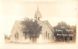 Wood River Nebraska Presbyterian Church Real Photo Antique Postcard K15509