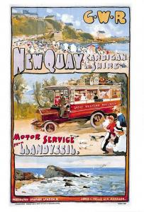 Vintage Repro Travel Poster Postcard GWR Great Western Railway to Newquay