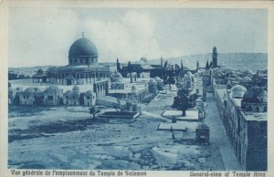 JERUSALEM, Israel, 10-20s; General View of the Temple of Salomon
