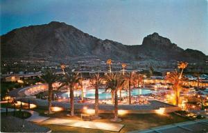 Scottsdale Arizona~Del Webb's Mountain Shawdows Hotel~Pool at Night~Golf Course