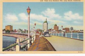California Long Beach View From Rainbow Pier 1943 Curteich