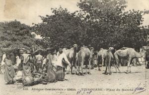 CPA Sénégal Afrique Fortier 512. Tivaouane - Place du Marché (67943)