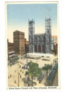 Notre Dame Church & Place D'Armes, Montreal, Quebec, Canada, PU-1931