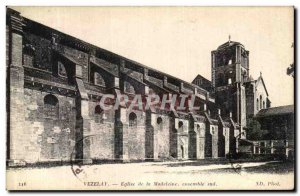 Old Postcard Vezelay The Madeleine Church The whole South