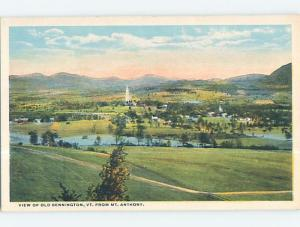 Unused W-Border PANORAMIC VIEW Bennington Vermont VT hp4107