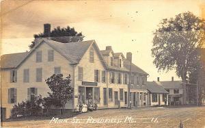 Readfield ME Main Street Store Fronts Eastern Illustrating RPPC Postcard