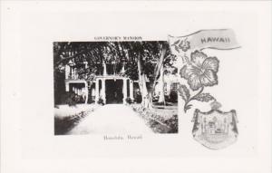 Hawaii Honolulu Governor's Mansion Real Photo