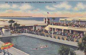 The Sarasota Lido, Swimming Pool, Showing Gulf Of Mexico, Sarasota, Florida, ...