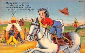 Humor, Girl on horse