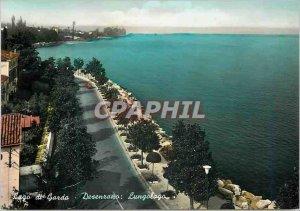 Modern Postcard Lake Garda Desenzano along Lake