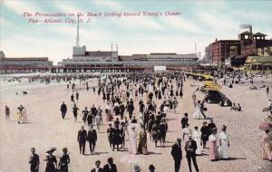 the Promenaders On The Beach Looking Toward Youngs Ocean Pier Atlantic City N...