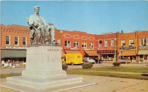 Hodgensville Kentucky~Statue of Abraham Lincoln~Storefronts~50s Mothers Truck