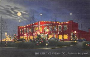 Frederick MD The Ebert Ice Cream Co. Building Linen Postcard