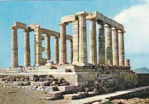Greece Cape Sounion Temple Of Posseidon Neptune