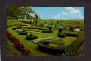 NC Gardens Orton Plantation nr Wilmington North Carolina Postcard Flowers