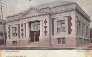 PARIS , Ontario , 1907 ; Public Library