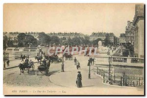 Old Postcard Paris Rue des Tuileries