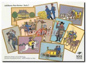 Postcard Modern JUBILÄUMS Post Karten Serie 1 Automotive