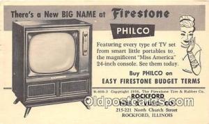 Rockford, IL, USA Postcard Post Card Philco, Rockford Tire & Culc Co