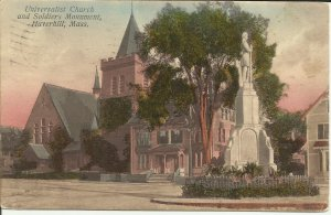 Haverhill, Mass., Universalist Church and Soldiers Monument