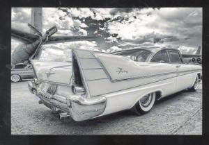 1957 PLYMOUTH FURY CAR DEALER ADVERTISING POSTCAQRD '57 MOPAR CARS