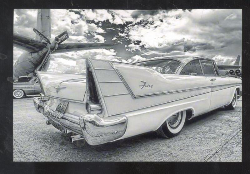 1957 PLYMOUTH FURY CAR DEALER ADVERTISING POSTCAQRD '57