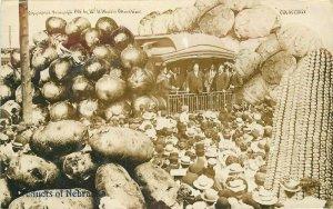 Agriculture Exaggeration 1908 President Taft Railroad Nebraska Postcard 11856