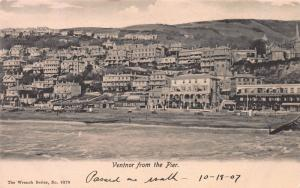 Ventnor From the Pier, Isle of Wight, Great Britain, Early Postcard, Unused