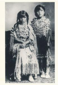 Two Girls likely Kiowa Indians circa 1890 Western USA - Recent Print
