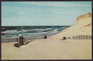 Sand Dunes,Lake Michigan,MI Postcard BIN