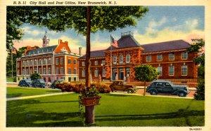 NJ - New Brunswick. City Hall and Post Office