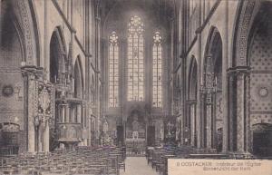 Belgium Oostacker Binnenzicht der Kerk 1910