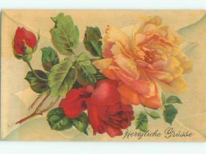 Divided-Back BEAUTIFUL FLOWERS SCENE Great Postcard AA2244