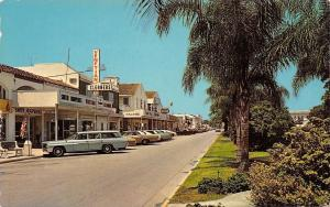 Venice Florida~Venetian Cleaners~El Patio Hotel~Rexall Drugs~1960s Cars~Postcard