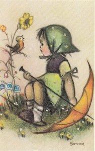 Girl & Umbrella , 40-50s ; Alfred MAINZER #576