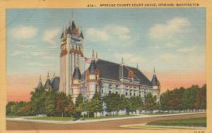 SPOKANE, Washington,  30-40s ; County Court House