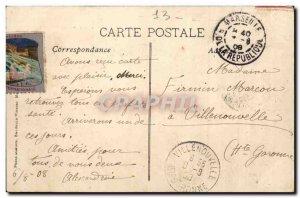 Marseille - International Exhibition & # 1908 39Electricite Luminous Fountain...