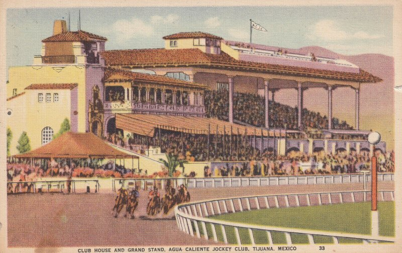 TIJUANA, Mexico, PU-1941; Club House And Grand Stand, Agua Caliente Jockey Club