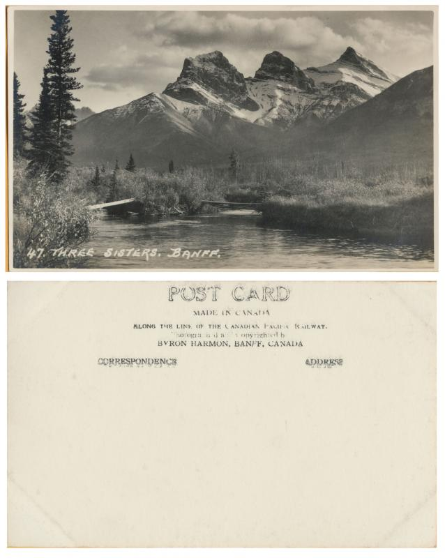 RPPC - Three Siters- Baniff National Park, Alberta Canada-CP