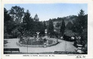 Scene in Park, Wheeling WV, West Virginia - UDB