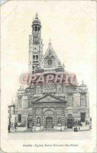 Old Postcard Paris Eglise Saint-Etienne-du-Mont