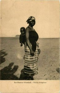CPA AK Femme Senegalaise MAROC (825036)