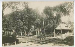 Cambridge NY Railroad Station Train Depot RPPC Real Photo Postcard