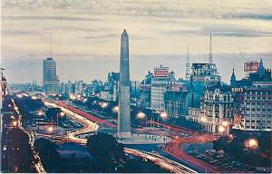 View in Buenos Aires Argentina by Panagra Jet Sky Card