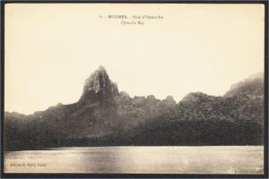 Moorea Opunho Bay French Polynesia Postcard 1910s-1920s Edition G. Spitz No. 6