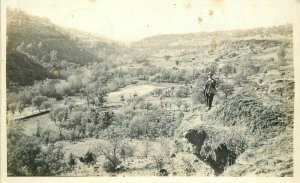 Chico California Valley Rock Outcropping 1930s RPPC Photo Postcard 21-10496
