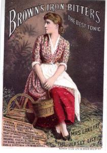 VICTORIAN TRADE CARD, BROWNS IRON BITTERS.