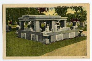 Postcard Davis Memorial Hiawatha Kansas Standard View Card