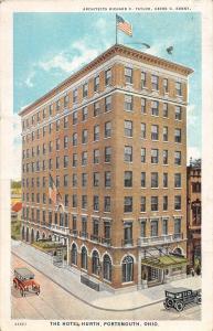 C70/ Portsmouth Ohio Postcard 1929 Hotel Hurth Autos Geves Architect Scioto Co 1